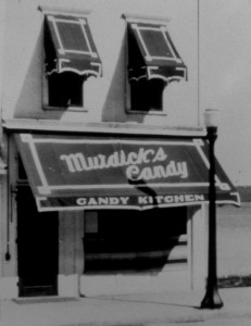 "The original store ""Murdick's Candy Kitchen""  on Mackinac Island."