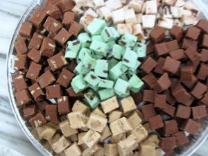 tray of fudge